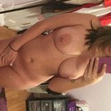 Selfie of chubby girl with big nipples