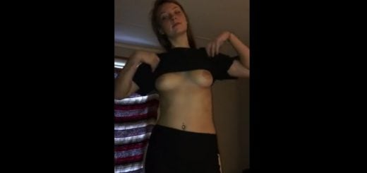 Striptease and blowjob from ex-girlfriend